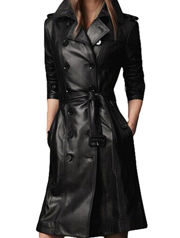 PLAER Herbst und Winter Damen Fashion Leder Jacke PU Leder Mantel