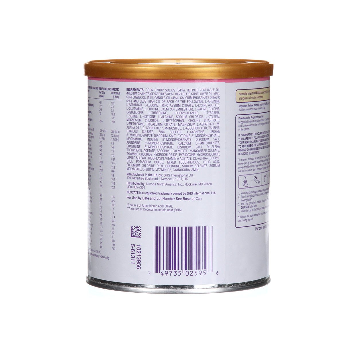 Neocate Infant With Dha and Ara, 14.1 Ounce / 400 Gram (1 Can) by Neocate (Image #3)