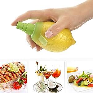 Cosmee Lemon Juice Extractor Set,Fresh Fruit Juice Serving Tools Easy Spray Nozzle Plug