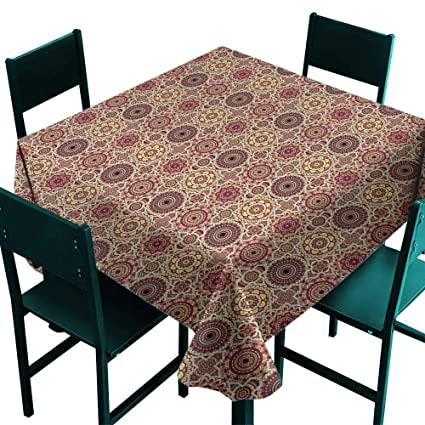 Astonishing Amazon Com Hinxinv Square Table Cloth Moroccan Artistic Download Free Architecture Designs Terchretrmadebymaigaardcom