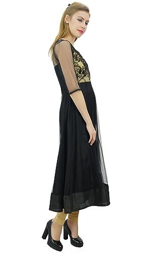 Bimba para Mujer diseñador de Ropa de Fiesta Vestido Bordado Neto Boda Anarkali: Amazon.es: Ropa y accesorios