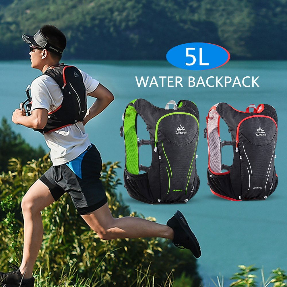 Lixada AONIJIE 5l Hydration Vest水膀胱サイクリングバックパックアウトドアハイキングランニングマラソン水分補給パック   B07DC3X6Q6