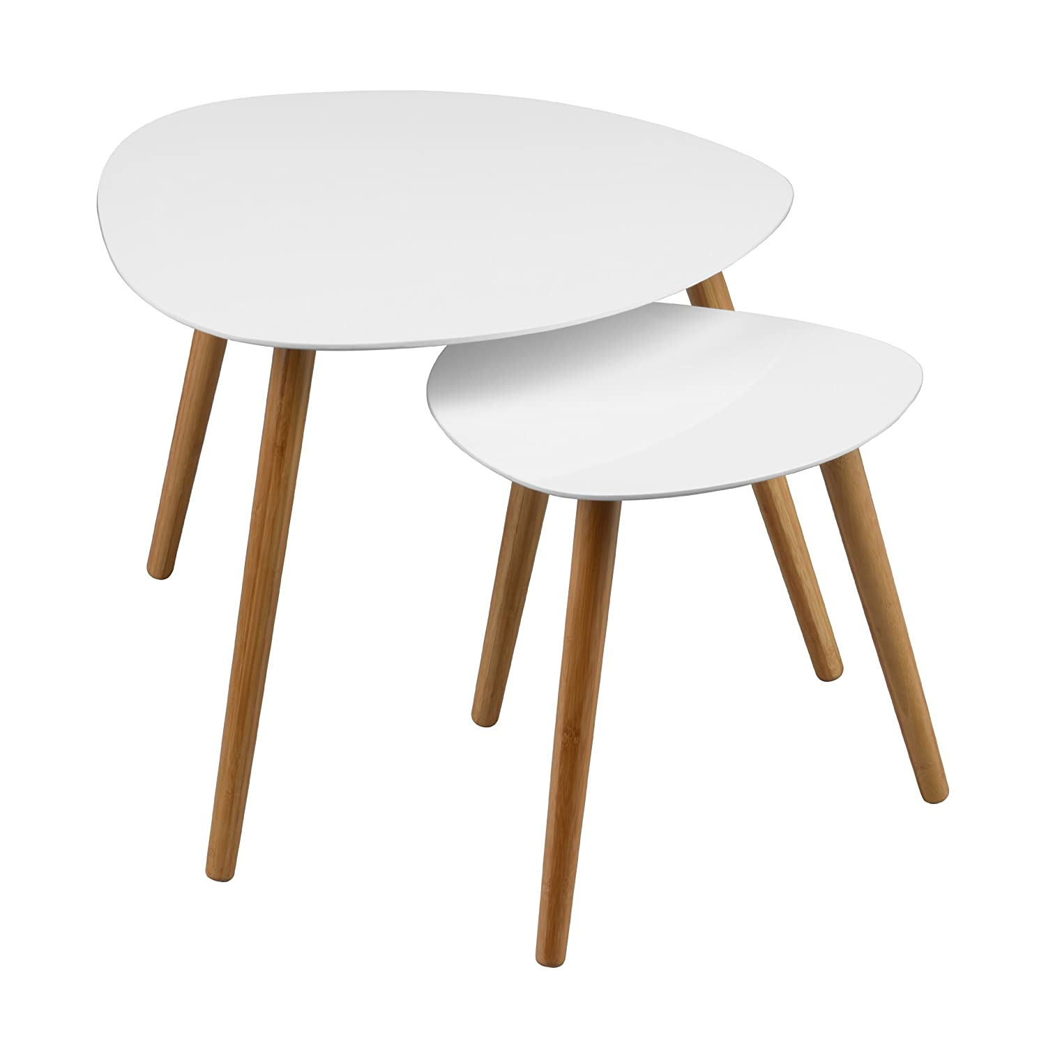 Premier Housewares Nostra Nest of Two Triangular Tables with