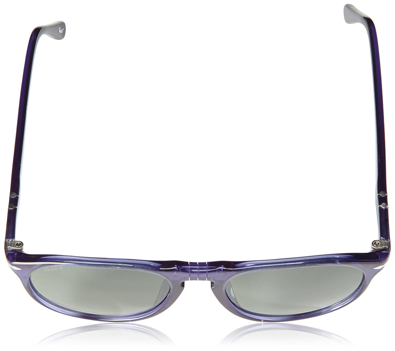 c99bb062a9 Persol 9649 Sunglasses 1015 58 Transparent Cobalto Blue   Green Polarized  52 mm  Amazon.ca  Clothing   Accessories