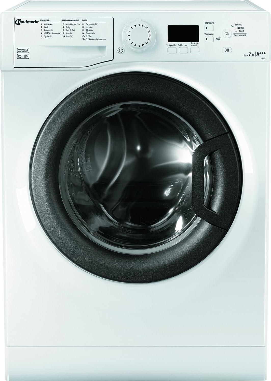 Bauknecht EW 7F4 Waschmaschine Frontlader/174 kWh/Jahr/9280 L/jahr/Woolmark Grün Zertifikat