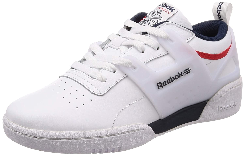 MultiCouleure (blanc Collegiate Navy Primal rouge 000) 42 EU Reebok Workout ADV L, Chaussures de Fitness Homme