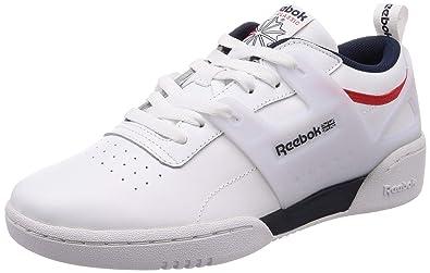 4e5ca5b1ed4 Reebok Men s Workout Advance L White Collegiate Navy Red Running Shoes-9 UK