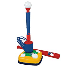 Franklin Sports Kids Baseball Tee - Tee Ball & Pop-a-Pitch Combo - MLB - 2-in-1 Super Star Batter Training Aid