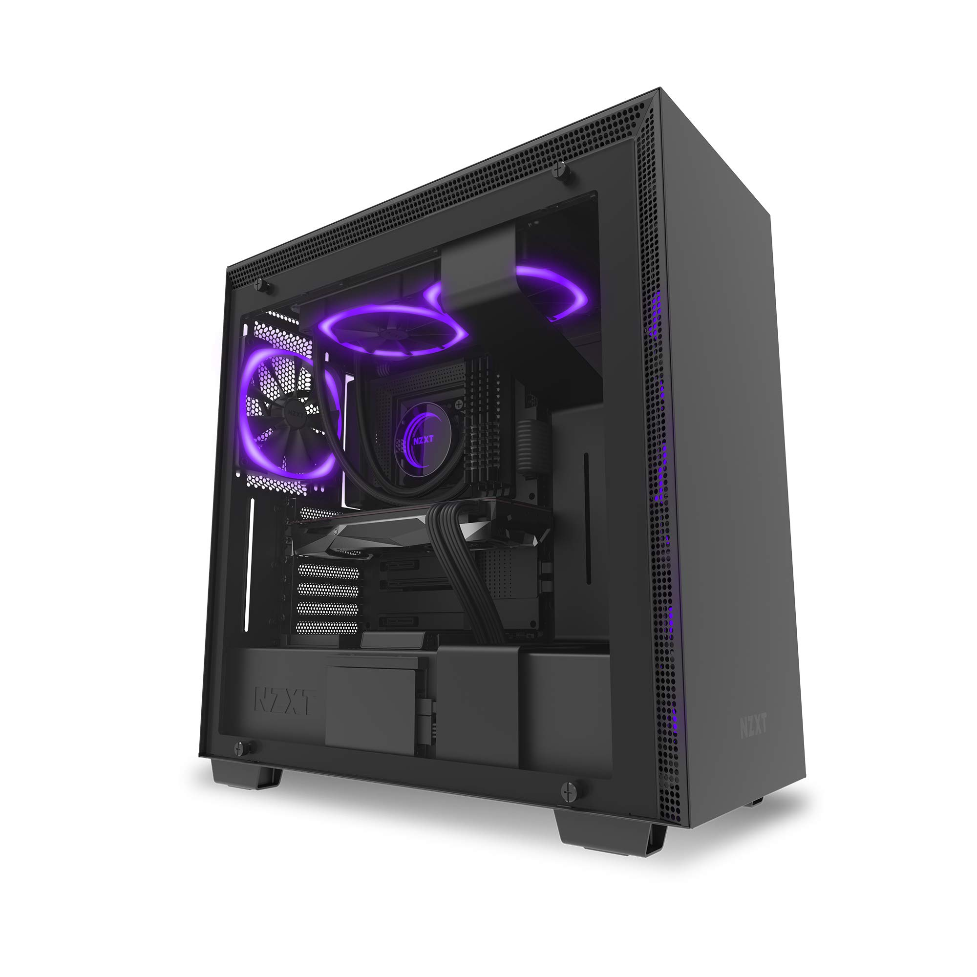 NZXT AER RGB 2 - 3-Pack of 120mm RGB PWM Fans with Hue 2 Lighting Controller - Advanced Lighting Customizations - LED RGB PWM Fans - Winglet Tips - Fluid Dynamic Bearing -  PC Case Fan by NZXT (Image #6)