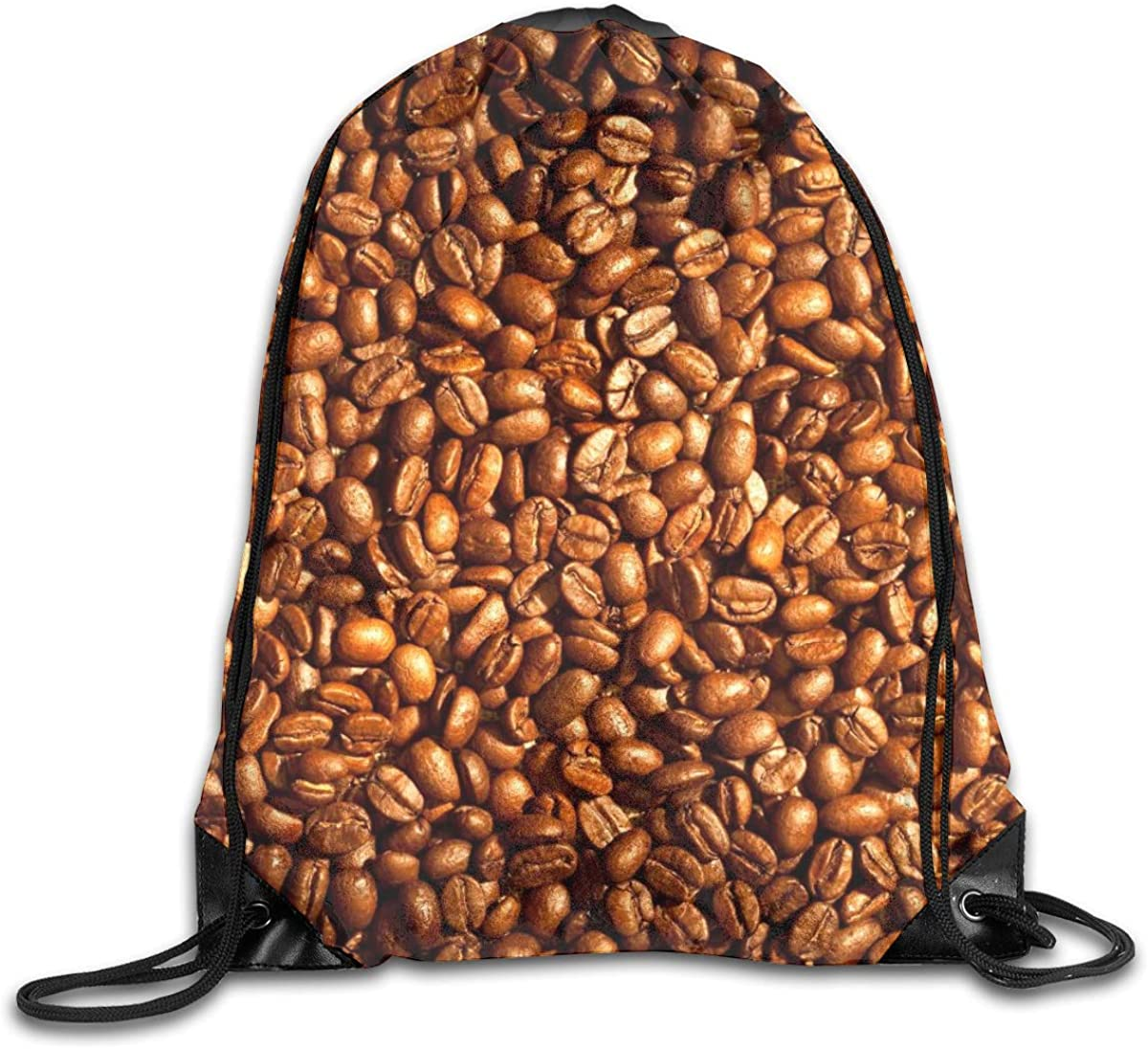 Coffee Beans Drawstring Backpack Bag Water Resistant Lightweight Gym Sackpack For Hiking Yoga Gym Swimming Travel Beach