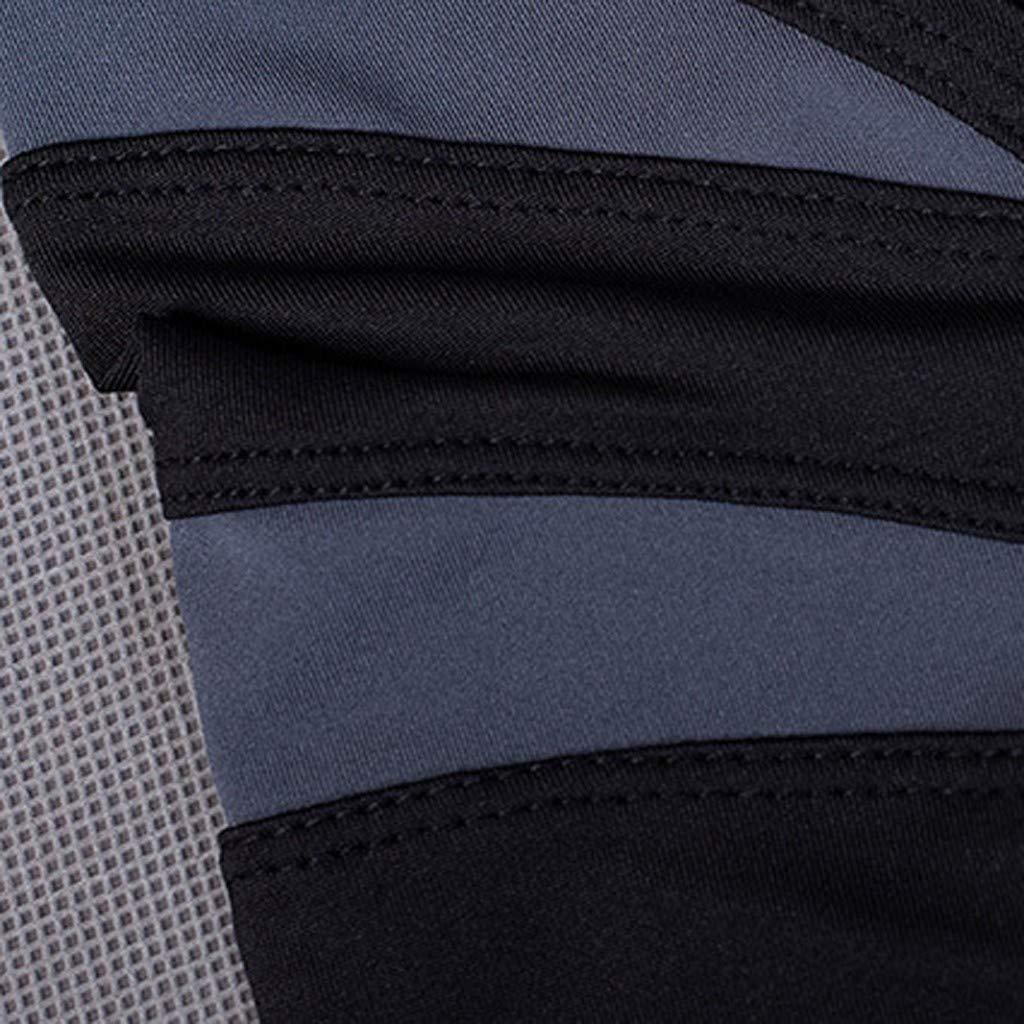 YpingLonk Camiseta Hombre Secado Rapido Apretado Moldeando Fitness Gimnasio Separaci/ón Cuello Redondo Manga Corta Delgado Casual Ch/ándal