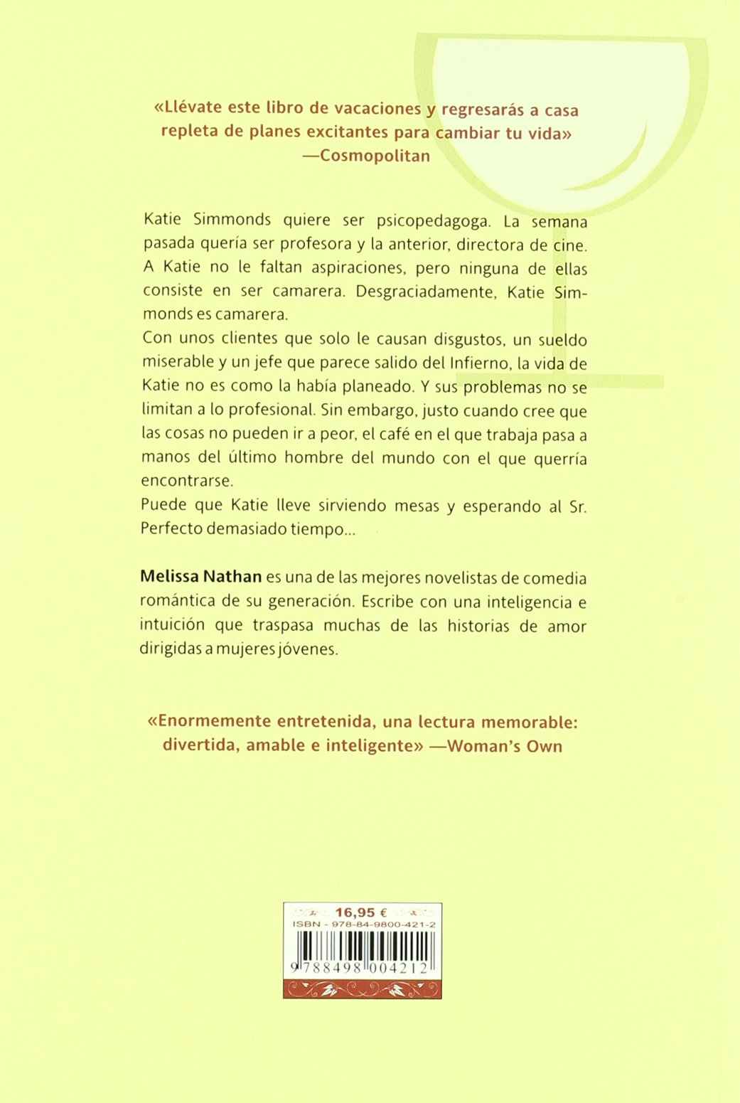 La camarera / The Waitress (Spanish Edition): Melissa Nathan, Beatriz Ruiz Jara: 9788498004212: Amazon.com: Books