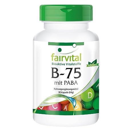 B-75 PABA (ácido para-aminobenzoico) - GRANEL durante 3 meses -