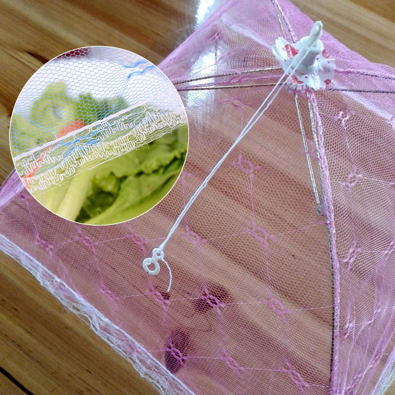 Aliments de Style de Parapluie Couvre Anti-Mouches Table de Dentelle de Couverture de Repas Anti-moustiques Accueil /à laide de Nourriture Couverture Gadgets de Cuisine Cuisine Outils Al/éatoire