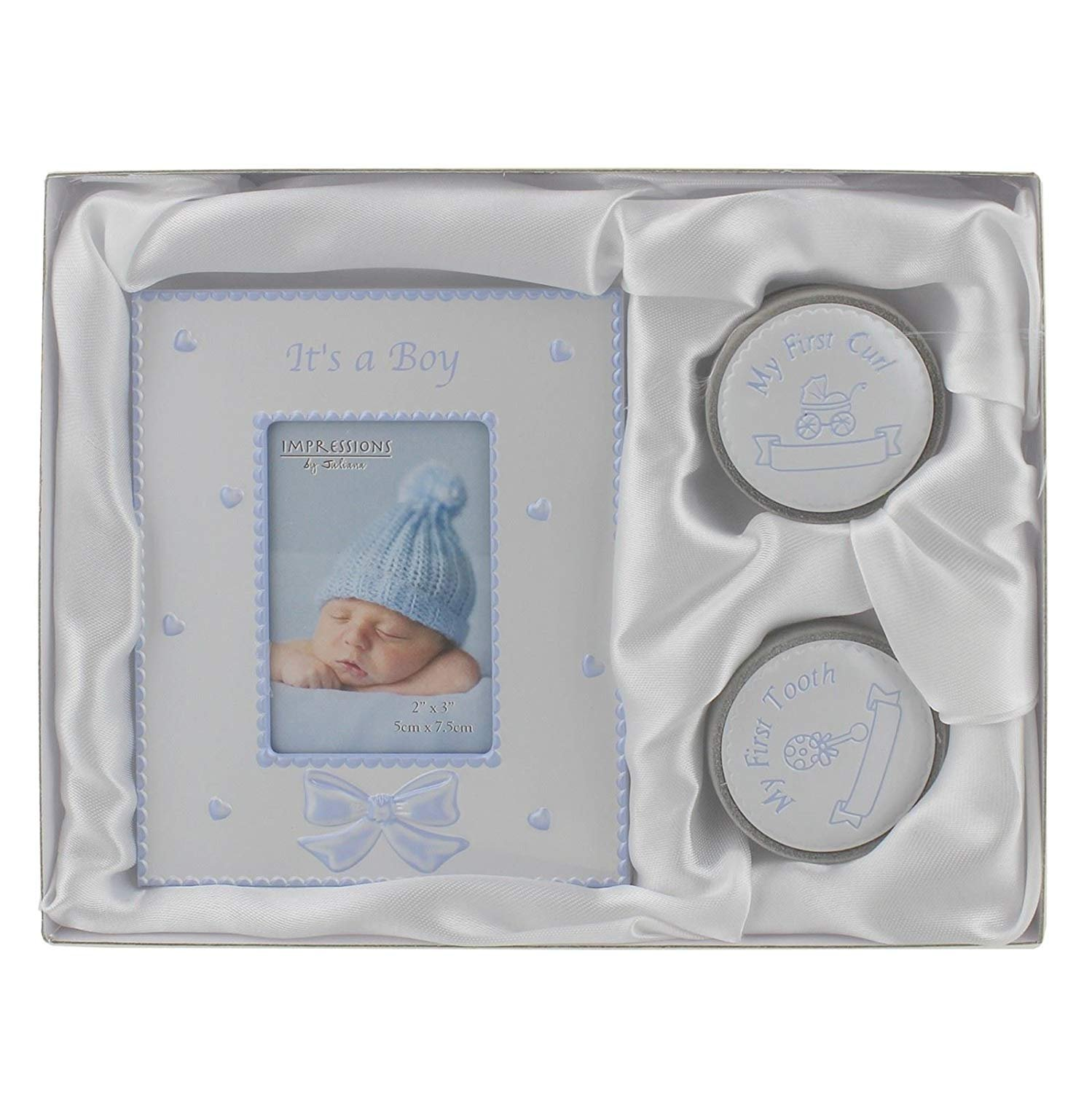 My First Curl Tooth and Photo Frame Silver