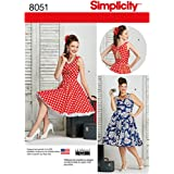 Simplicity Pattern 8051 BB Misses and Plus Size Dresses by Theresa Laquey, Size 20W-