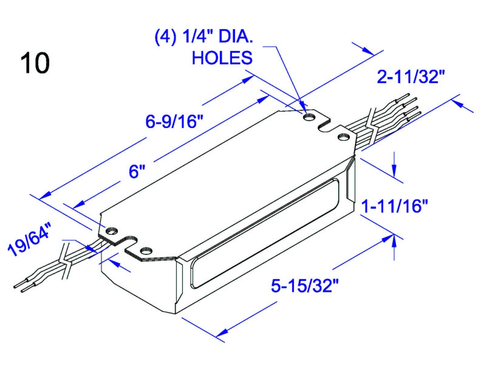 ROBERTSON 3M10249 NES315P /A mBallast, NPF, 120Vac., 60Hz, (3) F15T8, V2