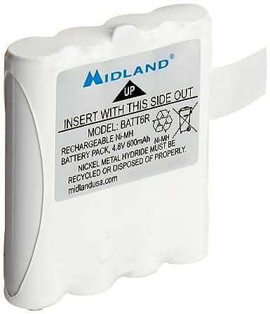 Nickel Metal Hydride Battery >> Midland Avp8 Nickel Metal Hydride Battery Packs For Lxt Series Gmrs Radios Pair