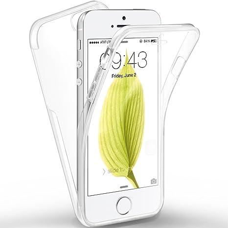 Leathlux Cover iPhone se/iPhone 5/5S Custodia + Pellicola