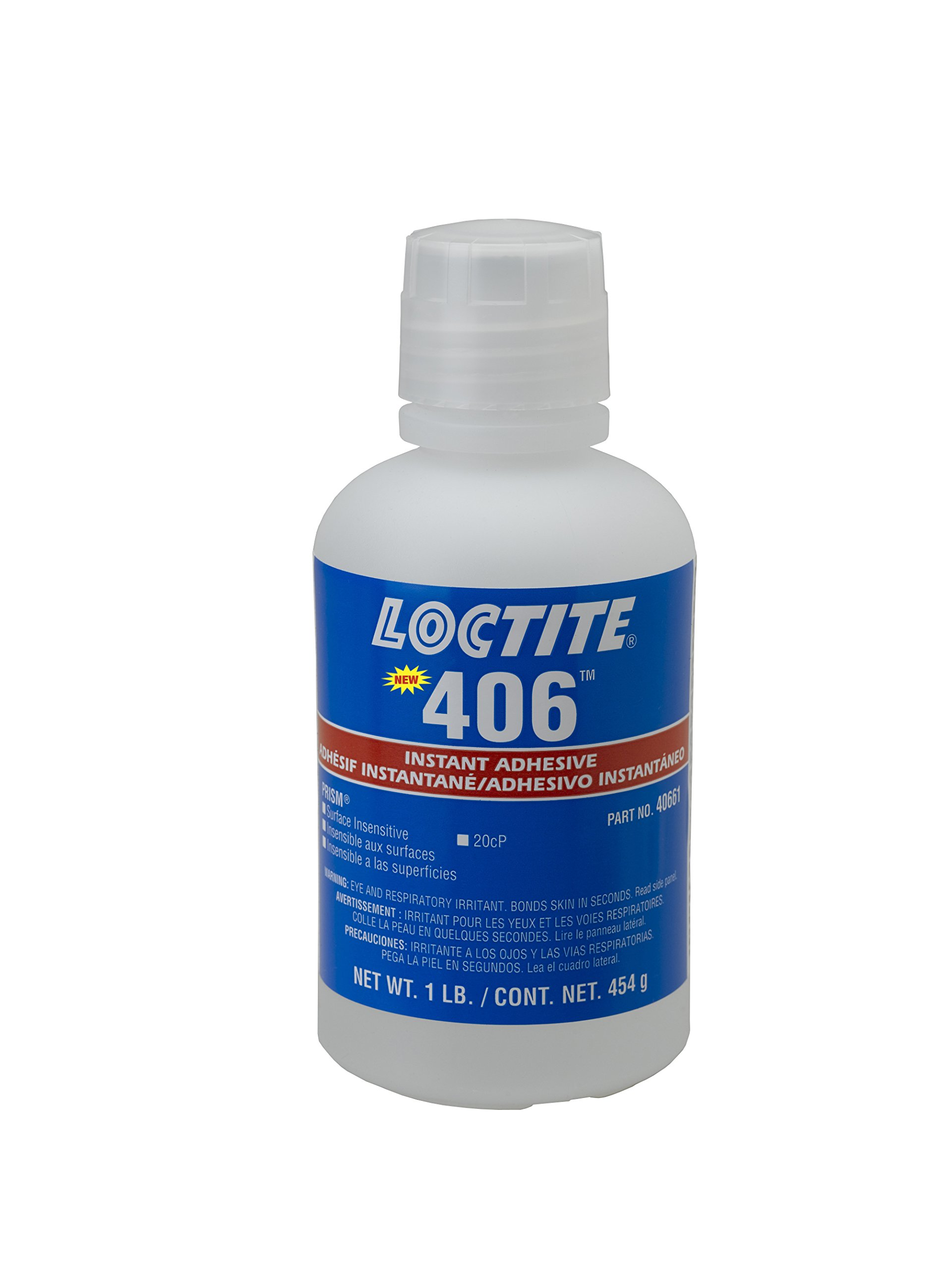 Loctite 237295 Clear 406 Prism Instant Adhesive, General-Purpose, Surface Insensitive, 1 lb., 16 fl. oz. Bottle