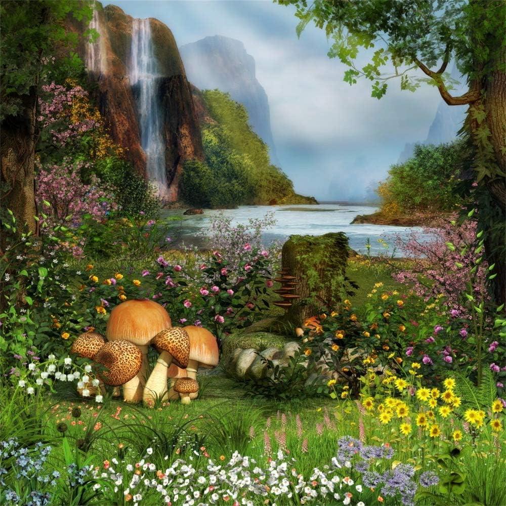 8x8FT Vinyl Backdrop Photography Background Magic Spring Forest Abstract Bokeh Dreamy Fairytale Garden Cherry Blossom Flowers Scene Children Girls Wedding Party TV Filme Video Shoot Backdrop