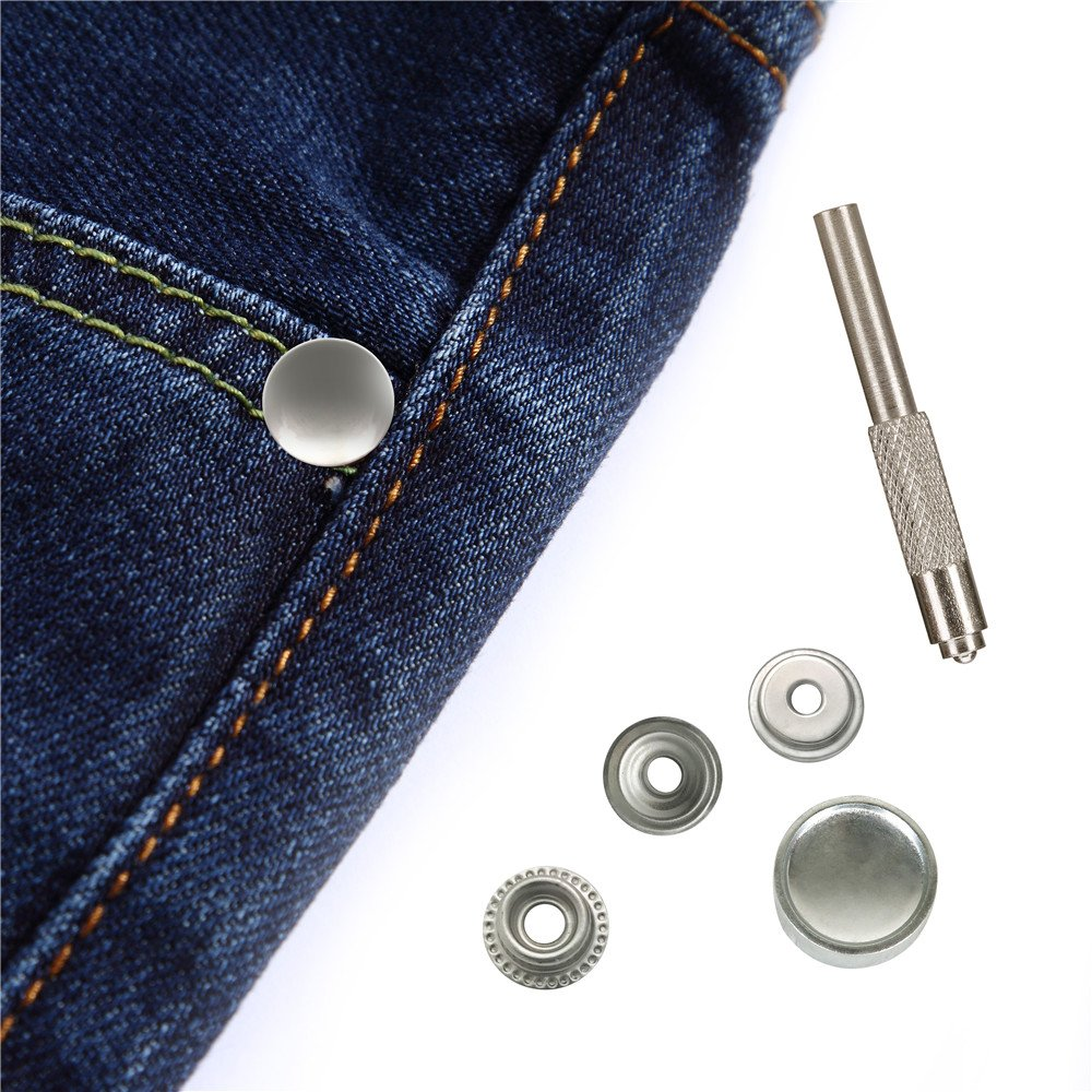 Cap /& Socket Only 5//8 Cap 5//8 Cap WORLD 9.99 MALL A06-snap001 50 Piece Stainless Steel Snap Fastener Marine Grade
