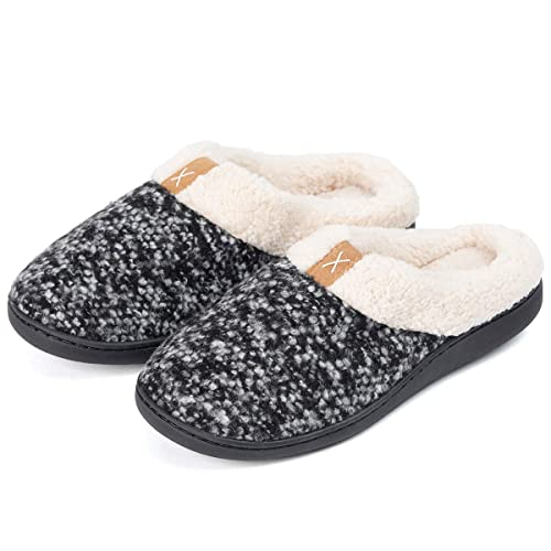 6a2bc4382a84 Image Unavailable. Image not available for. Color  Womens Winter Fleece Slippers  Memory Foam Fuzzy Plush Lining Clog House Shoes