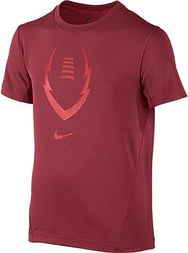 daño Distinción Cuarto  Amazon.com: Nike Kids Boys' Football Gear Up Short Sleeve Fitted Top  (Little, Gym Red/Light Crimson, SM (8 Big Kids): Clothing