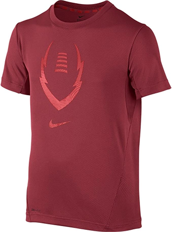 incidente escapar élite  Amazon.com: Nike Kids Boys' Football Gear Up Short Sleeve Fitted Top  (Little, Gym Red/Light Crimson, SM (8 Big Kids): Clothing