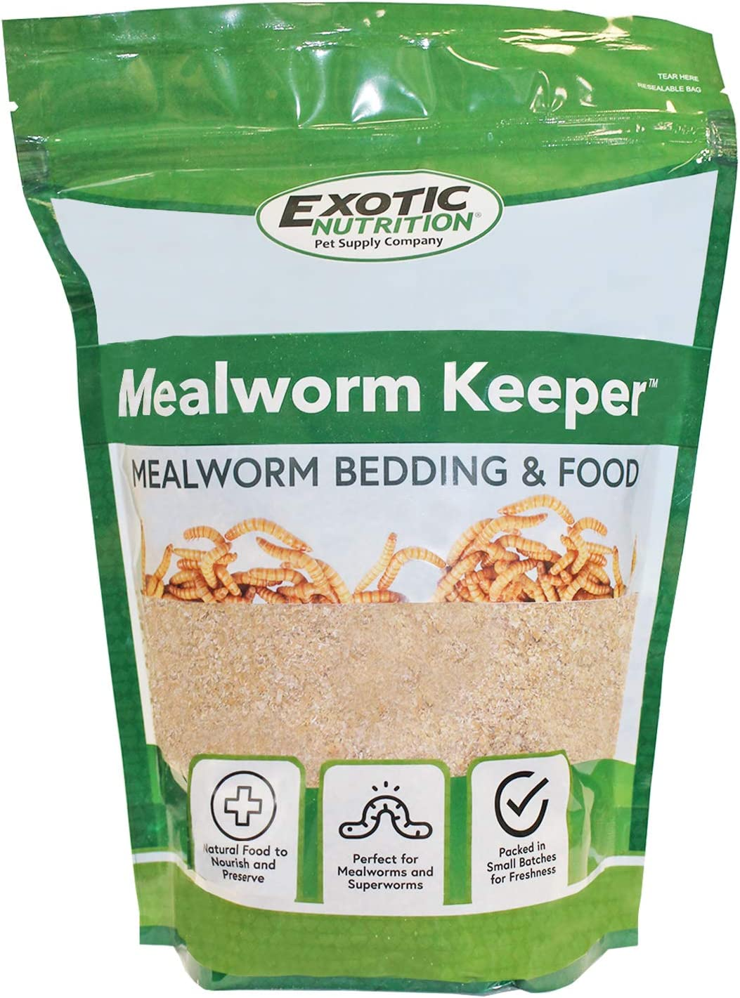 Exotic Nutrition Mealworm Keeper 1 lb. - Healthy Bedding & Feed for Breeding Live Feeder Mealworms