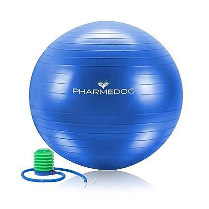 pharmedoc – Pelota de ejercicios la estabilidad parto pelota con bomba –  Gimnasio Entrenamiento personal 1c834e644236