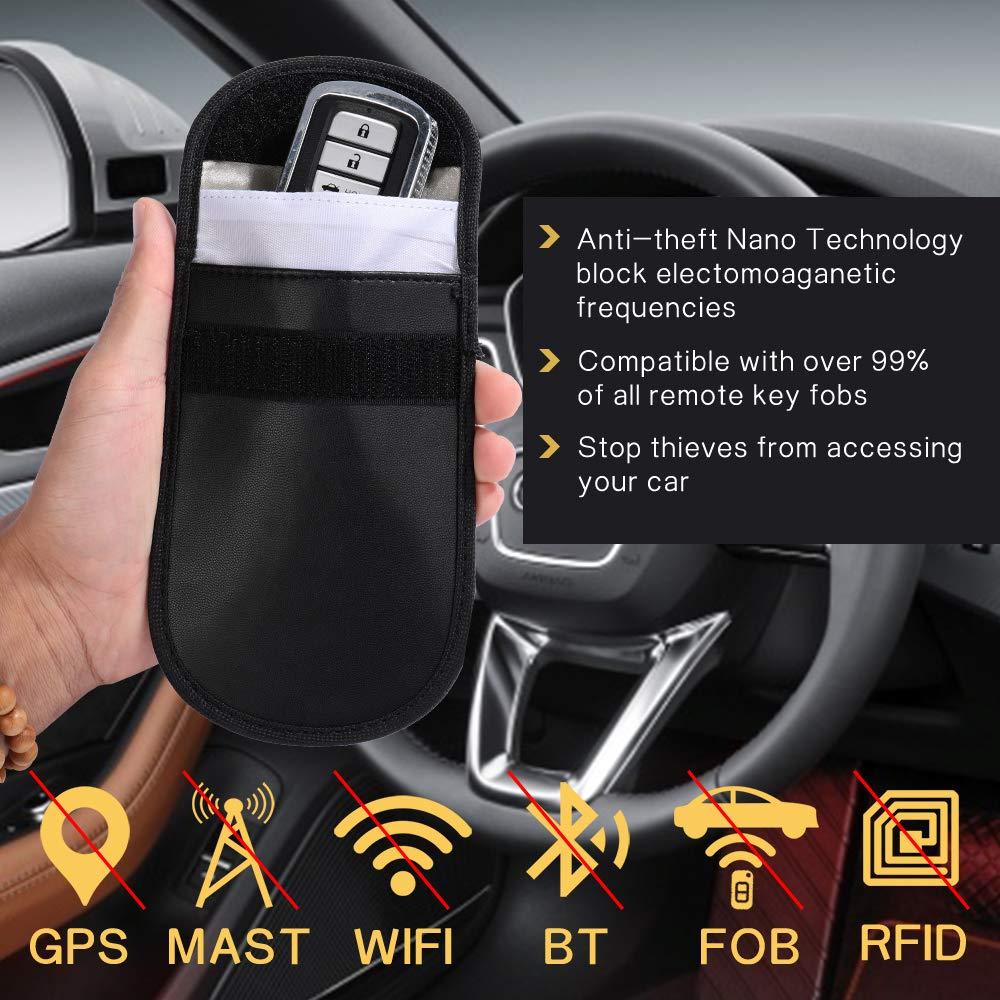 100/% bloqueo WiFi // GSM // prevenci/ón de privacidad para llaves de coche Bolsas de bloqueo de se/ñal 2 bolsas Faraday y 2 fundas de bloqueo RFID Innosinpo RFID tarjetas de cr/édito y tel/éfono m/óvil