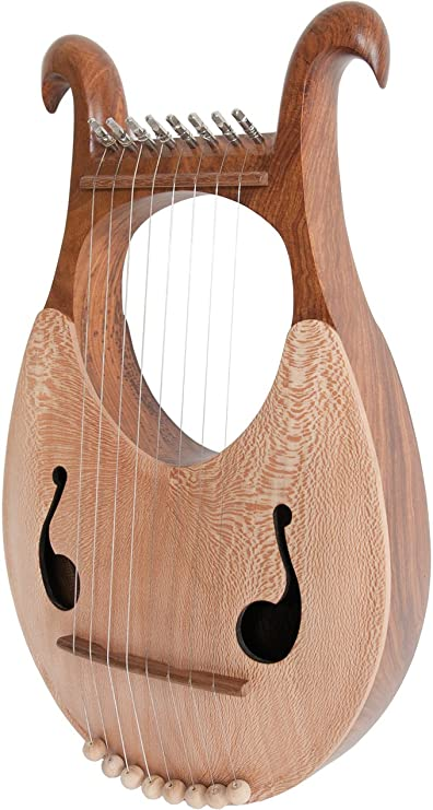 Vbest life Musical Instrument 15 String Harp Lyre African Mahogany 15 String Harp Lyre for Beginner Musical Instrument Equipment