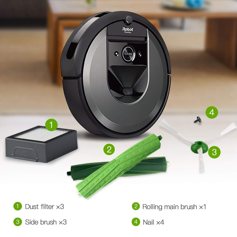 10in1 Kit de Accesorios para iRobot Roomba Recambios Roomba Series i7 i7+//i7 Plus E5 E6 E7 para Robot Aspirador de ABC life