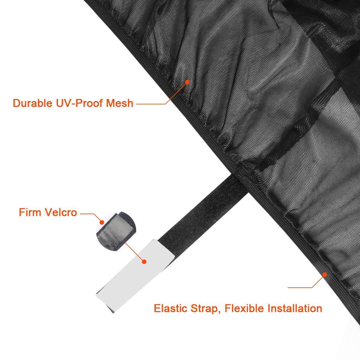 Bloquee UV Peligros 4 Paquetes de Sombras de Ventana para Beb/és y Mascotas Sombras de Sol Delanteras y Traseras para Coche Anti-Mosquito Adecuado Perfectamente