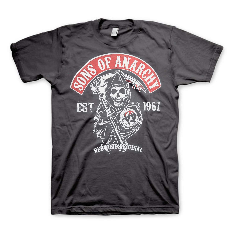 Sons of Anarchy T-Shirt mit Samcro Logo SOA Schwarz Trikot Original Offiziel
