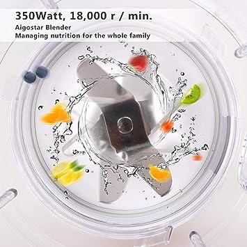 Aigostar Spin 30HLV - Batidora de vaso americana, 350 W de ...