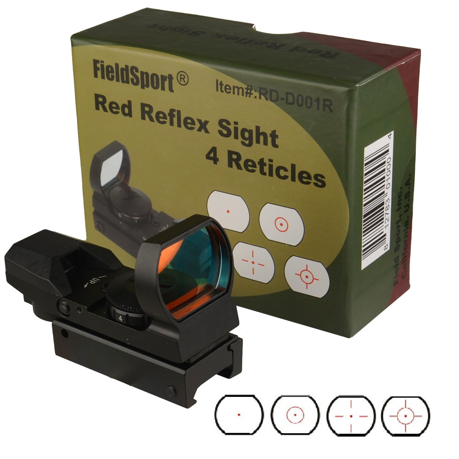 Field Sport Tactical 4 Reticle Red Dot Open Reflex Sight
