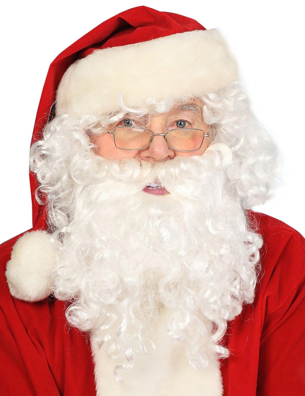 Deluxe Santa Wig and Beard Santa Beard and Wig Set Santas Beard White