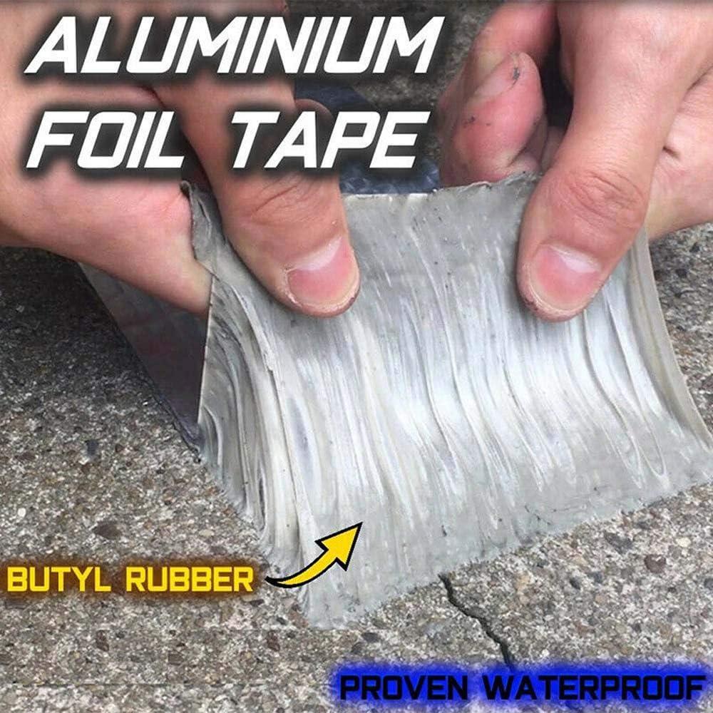Mend Any Leak and Crack,Super Waterproof Tape Butyl Rubber Aluminium Foil Tape 10cm/×10m Powerful Magical Repair Tape