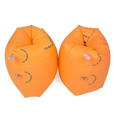 Natación Niños Brazaletes,Flotador Natación Infantil Manguitos Bebé para Aprender a Nadar Piscina Brazo Círculos
