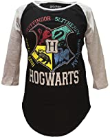 Harry Potter Hogwarts Raglan Athletic Tee Shirt