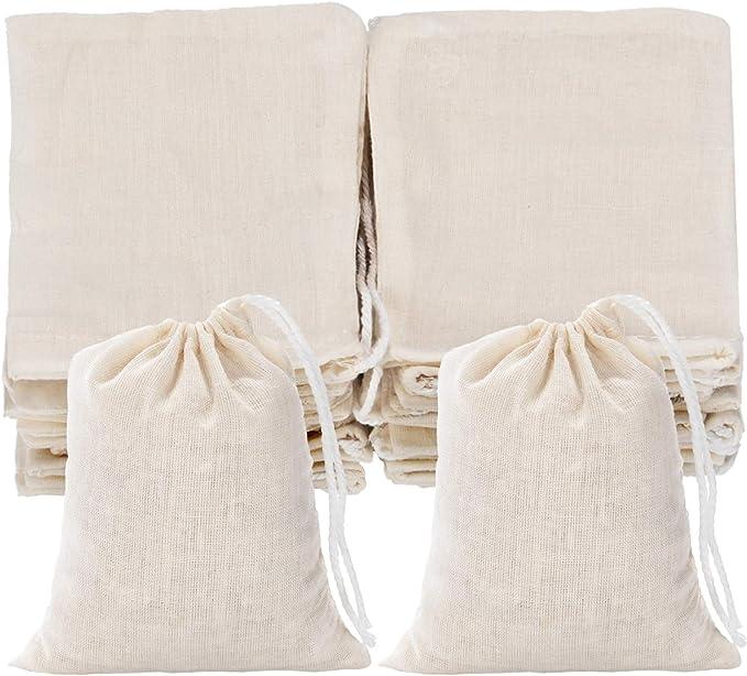 Fairtrade Natural Cotton Drawstring Bags Aura Pack of 6 Size: 50 x 75cm Cream XL