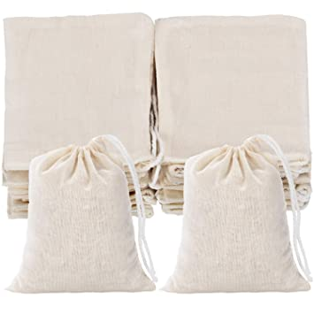 Amazon.com: Tatuo 50 bolsas de muselina de algodón con ...