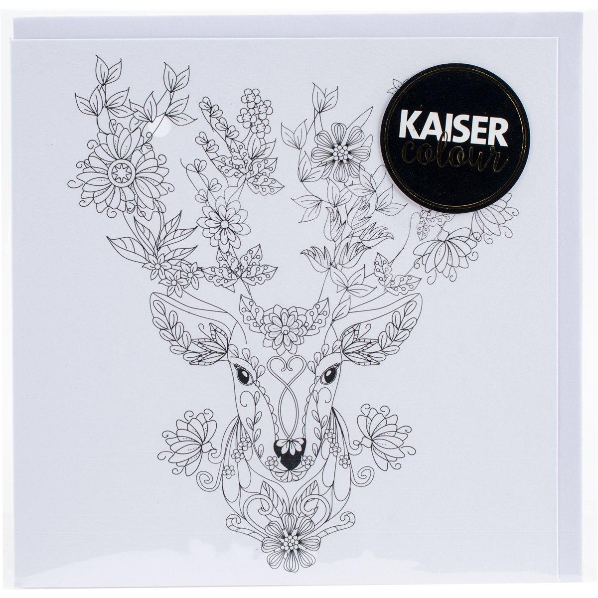 Kaisercraft'Flora Deer KaiserColour Gift Card with Envelope 6' x 6'