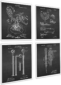 Dental Office Decor set of 4 Unframed Dentistry Patent Art Prints