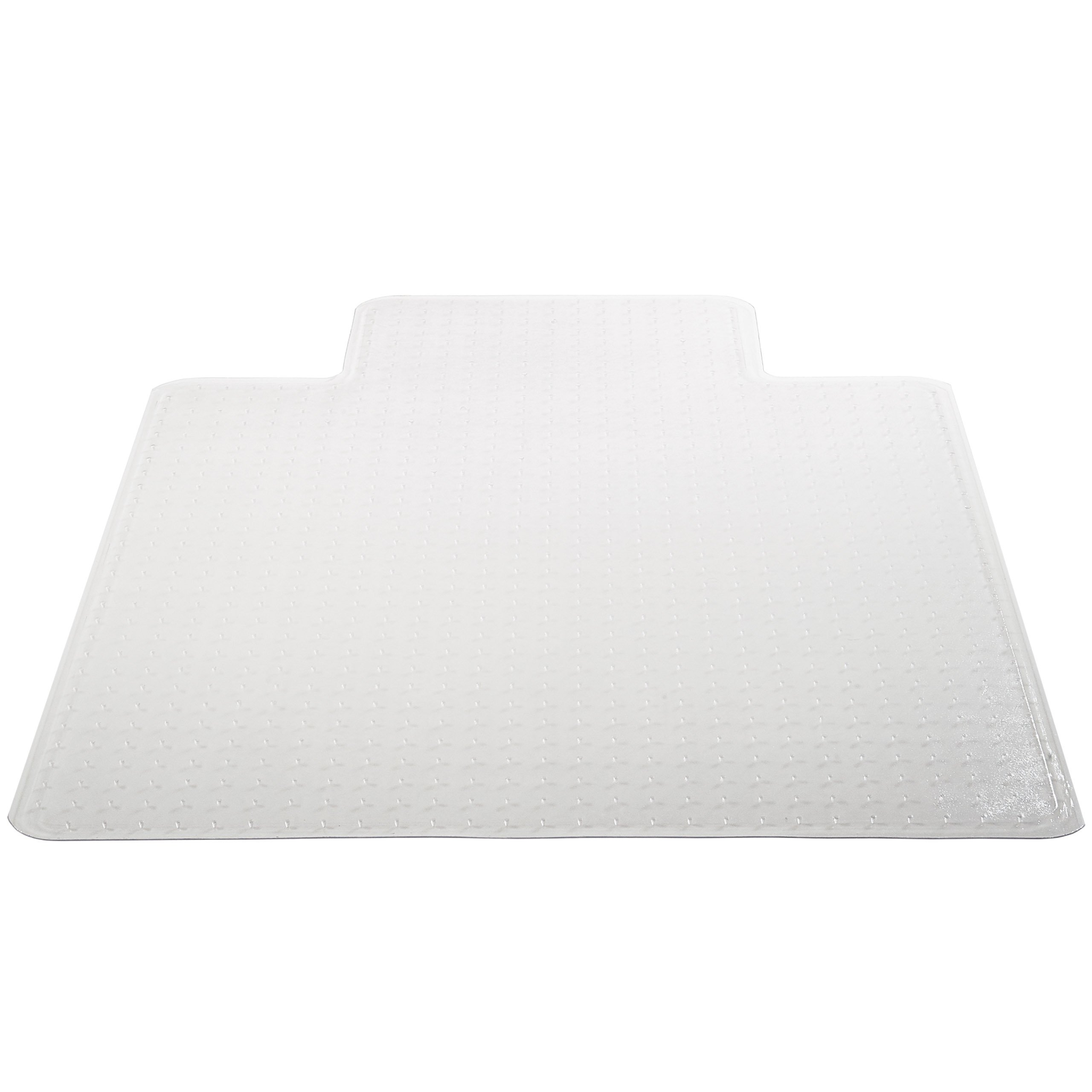 Deflecto DuraMat Clear Chair Mat, Low Pile Carpet Use, Rectangle With Lip, Beveled Edge, 45 x 53 Inches (CM13233COM)