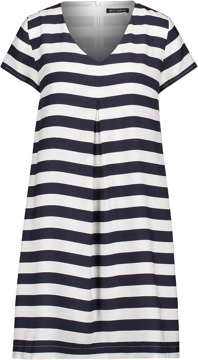 Betty Barclay Damen Kleid 19 Bekleidungg Kurzarm mit V