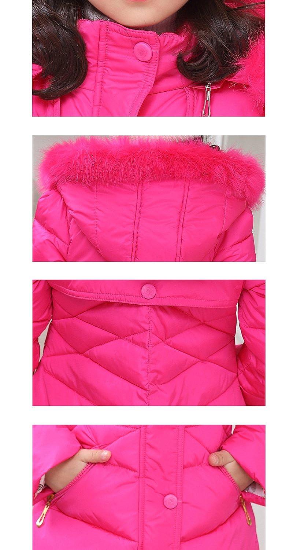 Ankoee Piumino Bambino Invernale Giacca Bambina Impermeabile Piumino Lungo Cappuccio Cappotto Bambina Snowsuit per Bambini