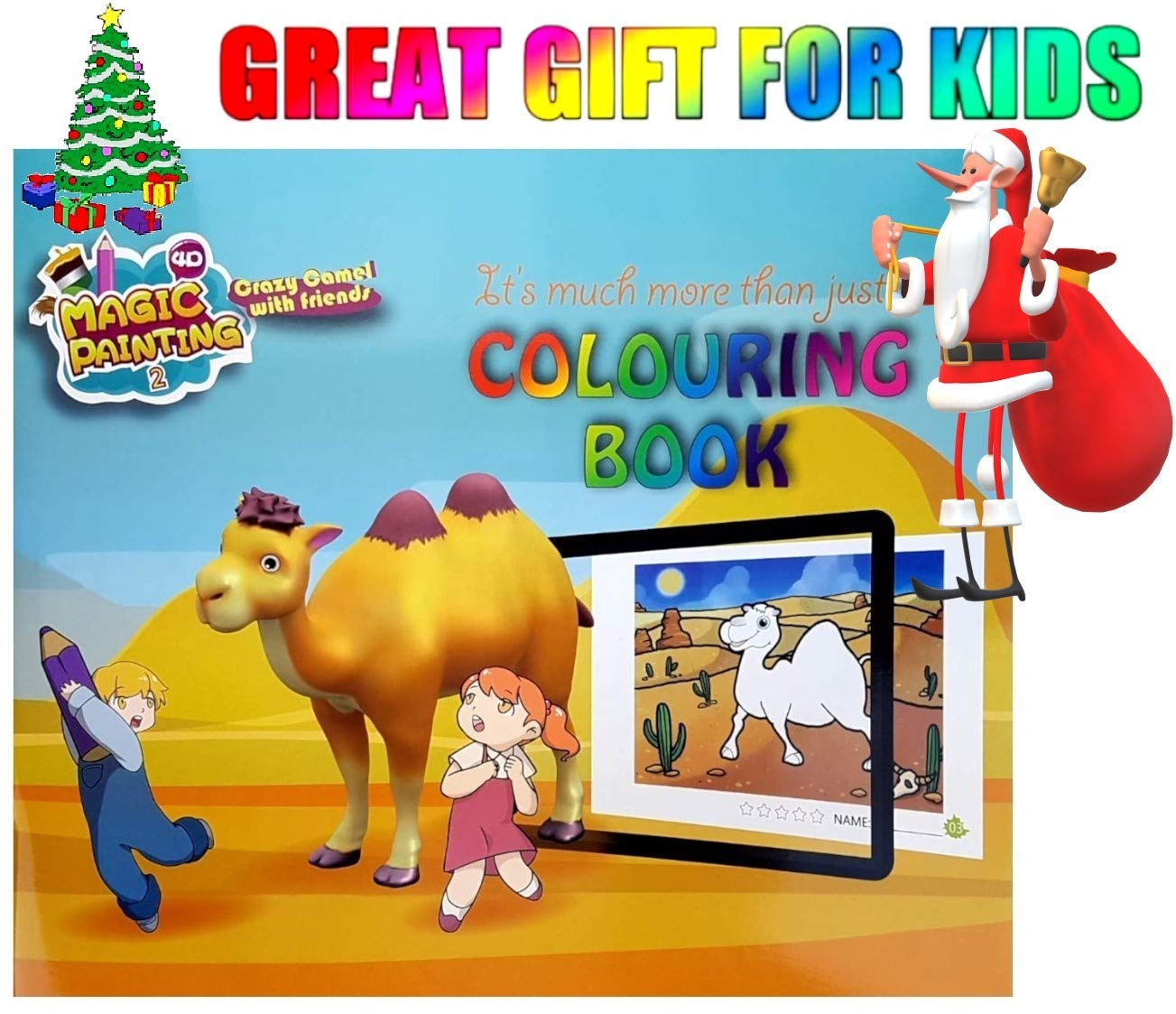 f793a3d0f8f04 4D Magic Painting Colouring Books Children Kids Girls Boys Christmas Xmas  Gifts  Amazon.co.uk  Toys   Games